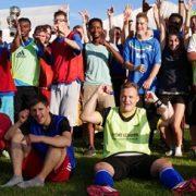TSG Wilhelmsdorf Sport für Menschen mit Behinderung Fußball Unified Fanclubfest Gruppenbild