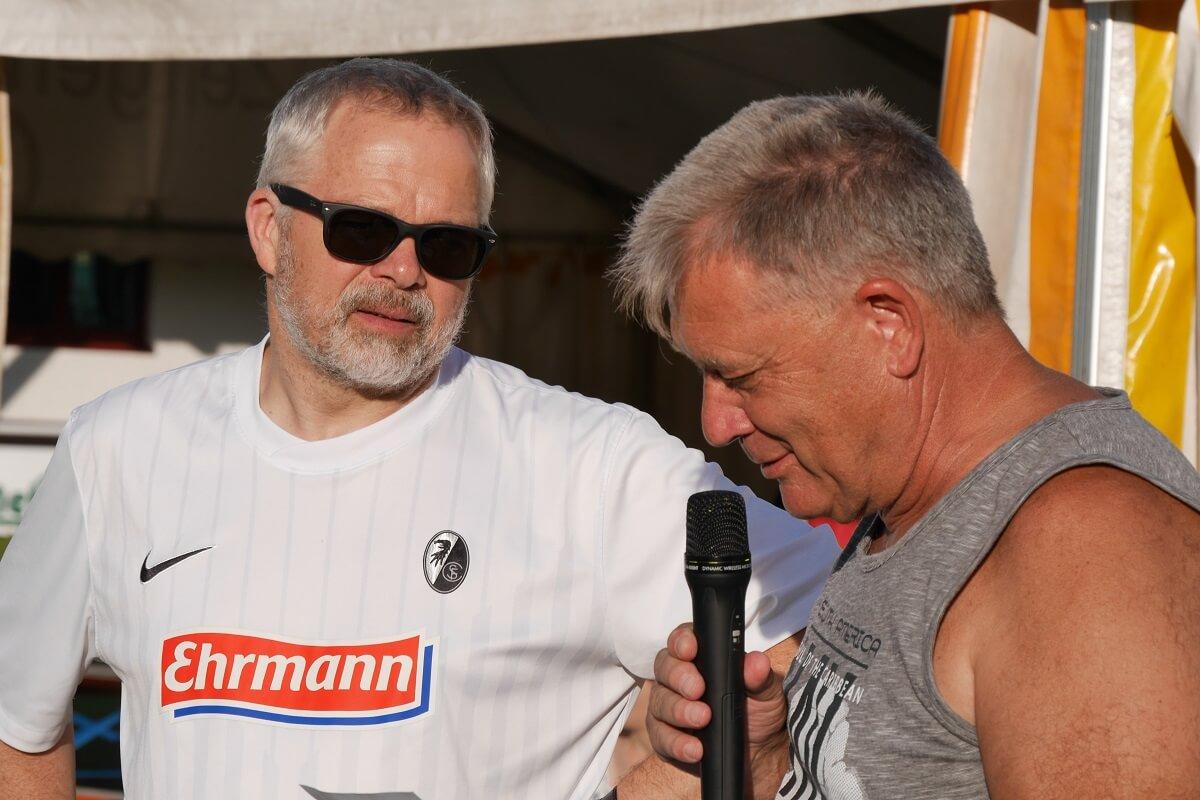 TSG Wilhelmsdorf Sport für Menschen mit Behinderung Fußball Unified Fanclubfest Siegerehrung Klaus Bockstahler und Klaus Bühner