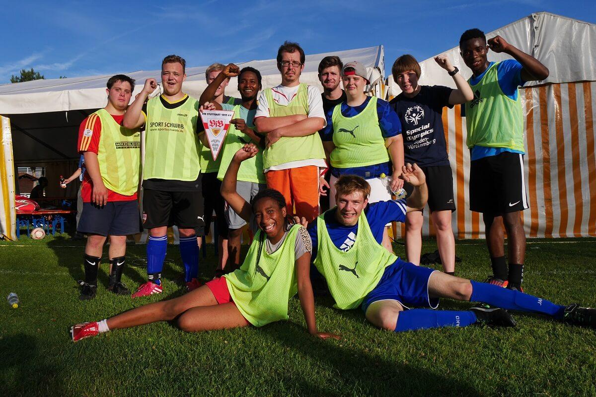 TSG Wilhelmsdorf Sport für Menschen mit Behinderung Fußball Unified Fanclubfest VfB gelb