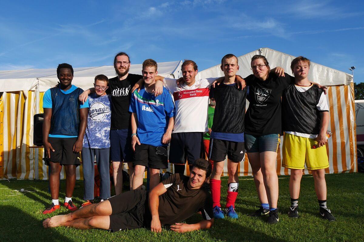 TSG Wilhelmsdorf Sport für Menschen mit Behinderung Fußball Unified Fanclubfest VfB schwarz