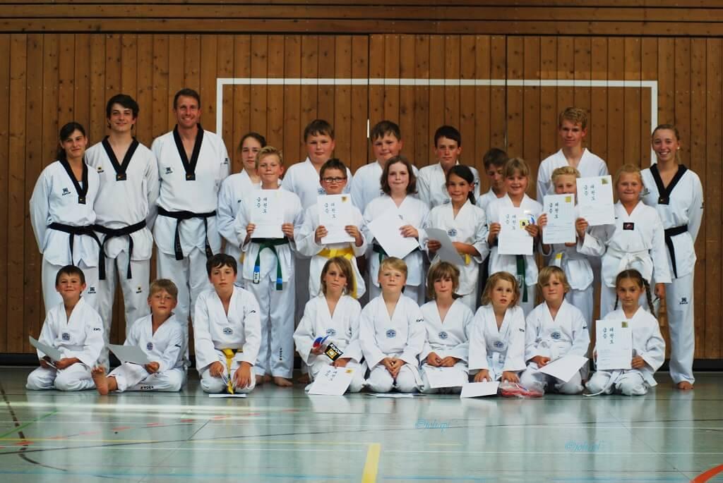 TSG Wilhelmsdorf Taekwondo Guertelpruefung Juli 2017