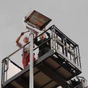 TSG Wilhelmsdorf Tennis Bau Flutlicht