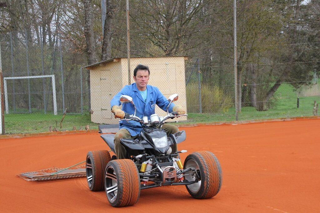 TSG Wilhelmsdorf Tennis Platz richten 2016