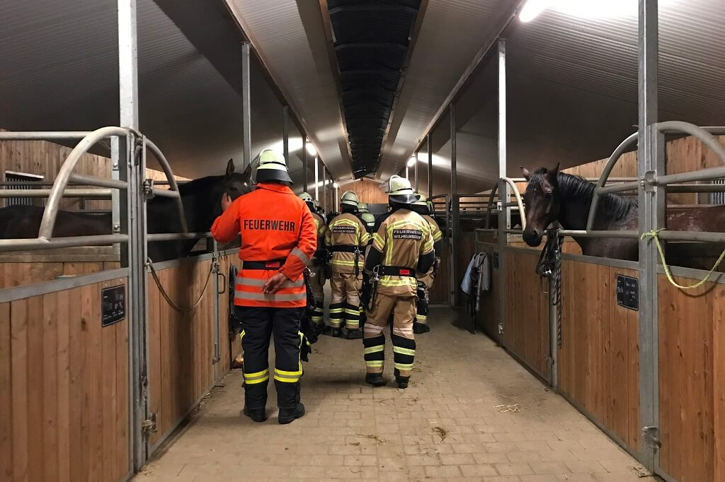 TSG Wilhelmsdorf Reiten Feuerwehrbegehung 2017