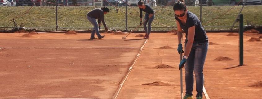 TSG Wilhelmsdorf Tennis Plaetze richten 2019